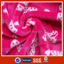 Any design workable printed coral fleece fabric