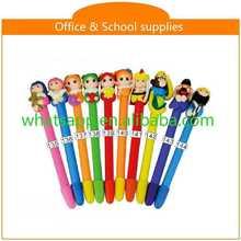 diy cartoon polymer clay ball pen gei pen on the desk