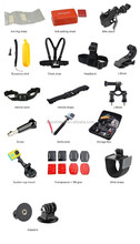 new extreme sport action camera go pro accessories set, kit