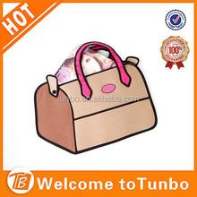2015 New design women bag nylon cute 3D cartoon travel bag