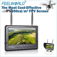 "Brightness 600nits IPS panel led lcd monitor fpv 7"" inside battery 5.8ghz diversity receiver dji inspire 1 quadcopter frame"