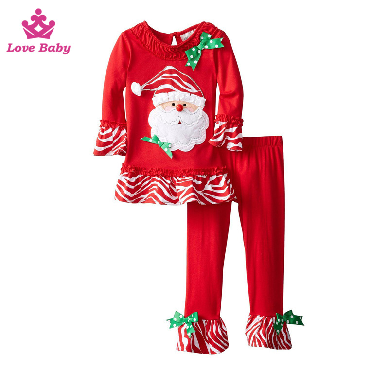 Wholesale baby girls christmas outfit boutique kids snowman with