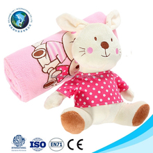 Customized cheap baby baby security blanket cute soft plush pink rabbit organic baby blanket cotton