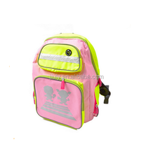 cute nylon kids backpack with reflect light