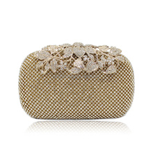 Hot sale flower Rhinestone diamond clutch bag Item: 3362