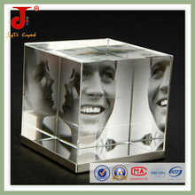 2015 Hot Sales New Design 3d Crystal Corporate Gift Beveled Curved Crystal Glass Photo Frame(JD-XK-075)