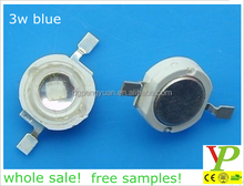 factory low price blue 460nm 3w blue high power led (rohs led)