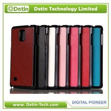 Chromed PU leather case for samsung galaxy note4