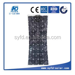 Flexible Mono Solar Panel 130W with high efficiency back contact cells