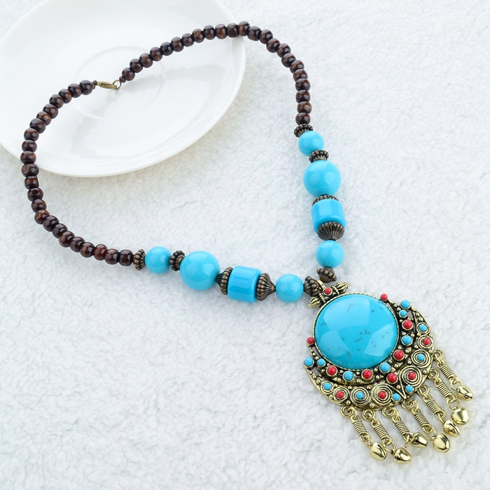 Tradicional africana natural gemstone collar hecho a mano joyería étnica
