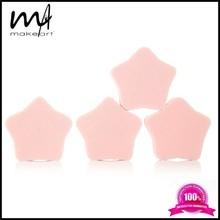 Pink star shape makeup puff cosmetic sponge candy sponge aplicator latex free
