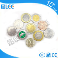 Factory price amusement arcade game machine token coin good quanlity copper coin token with trade assur