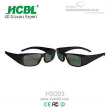 Stylish Small Black Frame Visual Reald 3D Glasses For 3D Format Film Movie