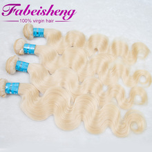 FBS #613 blonde hair top quality 100% brazilian human hair body wave styles pictures