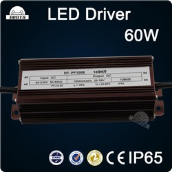 Constant current waterproof IP67 60W led driver led power supply