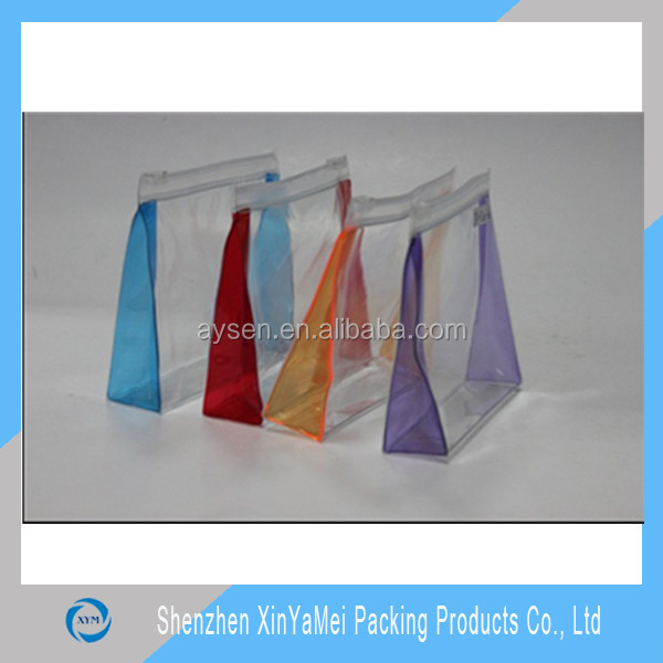 pvc stand up bags with zipper
