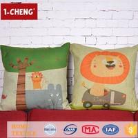 Creative Fashion Cute Printing Designs Cushion Inflatable Lumbar Support Cushion Handicrafts Made Of Abaca