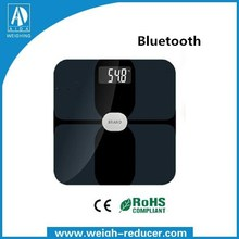 2015 fasion new design body fat scale bluetooth weighing scale