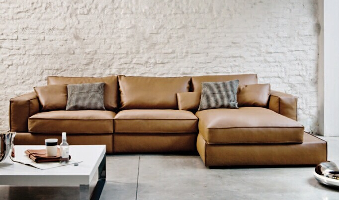Top Grain Italy Modern Leather Sofa Reasonable Price