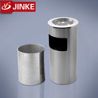 Wholesale Stainless Steel Single Barrel Litter Bin Commercial Ash Bin