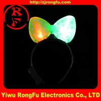 wholesale custom gift items Party supplies led light up bow headband