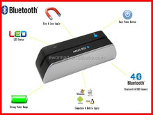 China supplier bluetooth magnetic stripe card reader writer msr x6(bt) for mobile phone , tablet , ipad etc