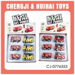 2015 new style mini toy vehicle metal model fire truck child battery toy for fun