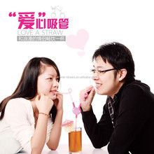 Fashion health love straw for two lovers to share