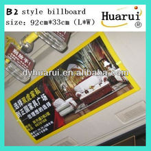 AD paper can be put inside in bus bus billboard