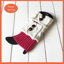 Fashion women accessory- new design knit white and pink women boot toppers