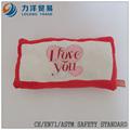 Día de san valentín amortiguador de la felpa o almohada, personalizado juguetes, CE / ASTM seguridad stardard