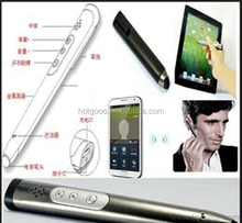 hot selling Stereo Bluetooth Pen Listen MP3 Music for promotion