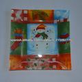 templado de vidrio calcomanía plato para navidad/placa de vidrio calcomanía para el festival