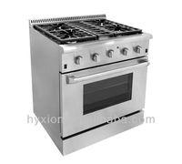 30 inch heavy duty 4 burner range rangetop & oven