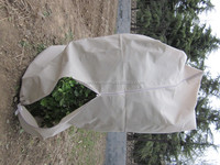 beige colour breathable PP non woven fabric plant cover bag/tree protective cover
