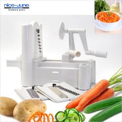 Tri-Blade Plastic Spiral Vegetable Slicer Cutter