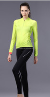 Women Sport Long Sleeve Cycling Suit Cycling Jersey Bike Tights Breathable Jersey And Pant