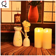 >>>> Random flickering 360 degrees shaking realistic flame scented paraffin wax electronic LED candle lights/