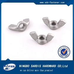 Chinese fastener original manufacturers made Galvanized Yellow/White wing nut