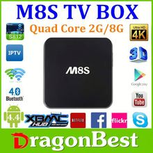 With Acemax NEW Amlogic s812 Quad Core smart tv box M8S plus can watch japanese movies free onlinec
