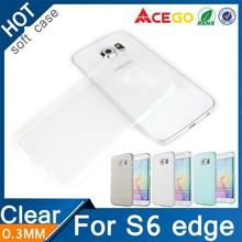 Clear Soft tpu for samsung galaxy s6 edge silicone case