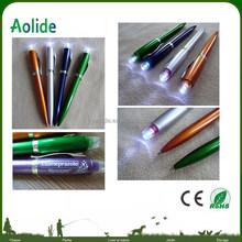 Plastic advertising ballpoint pen factory price LED Light Ball Pen LED Flashlight Ballpoint pen