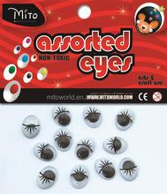 wholesale safety eyes with eyelash children crafts