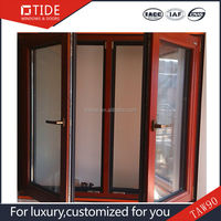 Sound proof windows,aluminum with timber interior double glazing window
