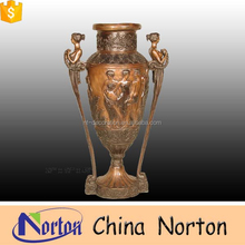 alibaba 2015 new style hot sale roman style garden bronze flower pot NTBF-FL150S