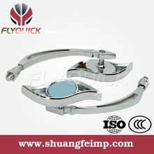 FLYQUICK Wholesale Chrome ABS Universal Motorcycle Decorative Small Rearview Convex Mirror for motorbike scooter street bike