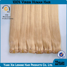 2014top sell100 human no mix high quality virgin cheap light color remy hair