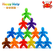 Funny Colorful Plastic Little Cartoon Man Blocks Toys For Children Kids Baby Educational DIY Intelligence Toy