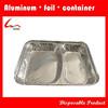 850ml Restaurant Use 2Compartment Divided Rectangular Aluminium Foil Food Container