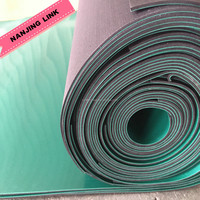 ESD rubber sheeting static dissipative surface and a black conductive bottom layer
